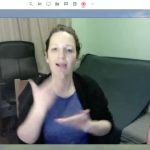 Kate Rowley presents the webinar: How do Deaf children develop sign language?
